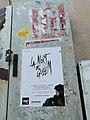 Electric box with La mort de Guillem's poster in Vilassar de Mar.jpg