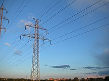 Transmission lines transmit power across the grid.