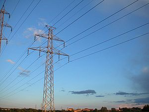 Power transmission - Electric power transmission with overhead line.