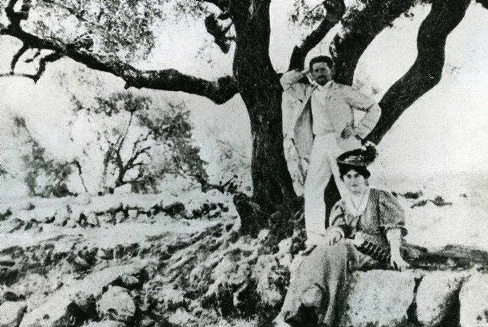 Eliezer Ben-Yehuda with his second wife Hemda