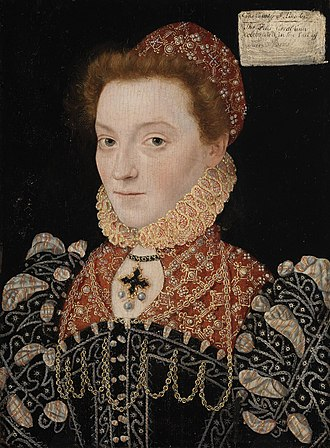 Elizabeth FitzGerald, Countess of Lincoln - Portrait of Elizabeth FitzGerald, painted by an unknown artist, c.1575. It is displayed in the National Gallery of Ireland