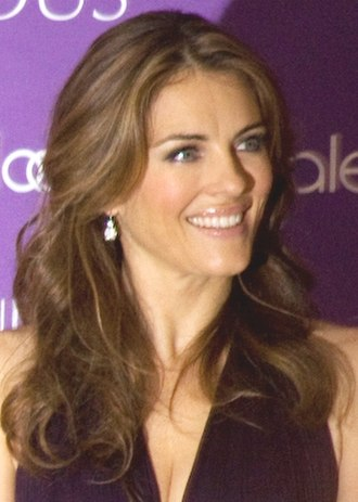 Elizabeth Hurley - Hurley at the launch of Estee Lauder's new fragrance, Sensuous, in July 2008