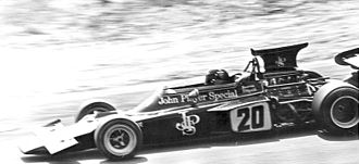 Lotus 72 - Fittipaldi at the wheel of the Lotus 72D at the 1972 Austrian Grand Prix