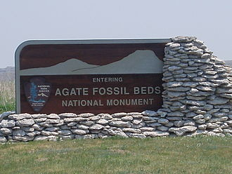 Agate Fossil Beds National Monument - Image: Entering Agate Fossil Beds National Monument