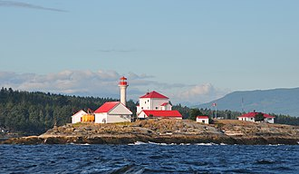 Entrance Island (British Columbia) - Entrance Island Light off Gabriola Island, Georgia Strait, British Columbia