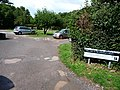 Entrance to National Trust car park, Bossington - geograph.org.uk - 1710609.jpg