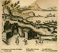 Entrance to the Crypta Neapolitana or Cave of Posilipo in Naples - Sandys George - 1615.jpg