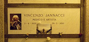 Enzo Jannacci - Jannacci's grave at the Monumental Cemetery of Milan
