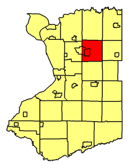 Location of Lancaster in Erie County