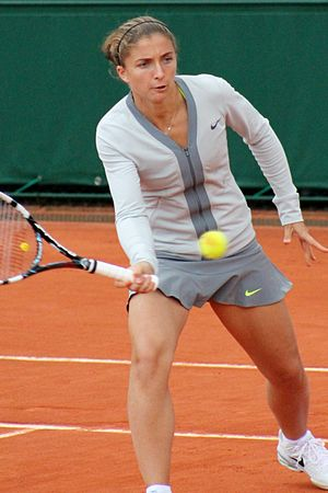 Sara Errani - Sara Errani at the 2013 French Open