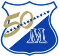 Escudo de MIllonarios temporada 1996 (50 años).png