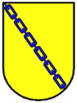 Alfonso Téllez de Meneses el Viejo - Coat of arms of the Téllez de Meneses family: Or, a chain in bend azure.