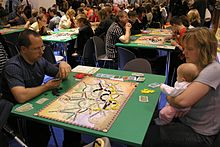 Situation fra et spil Ticket to Ride (Ticket to Ride: Switzerland), Essen, 2007