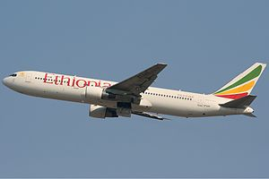 Ethiopian Airlines Flight 702 - ET-AMF, the aircraft involved in the incident, at Charles de Gaulle Airport in Paris