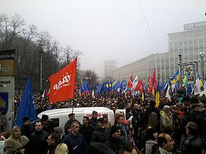 2013 in Ukraine - Euromaidan in Kiev, November 24