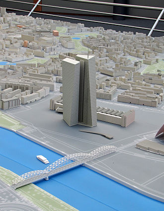 Seat of the European Central Bank - Image: European Central Bank Headquarters (model 01)