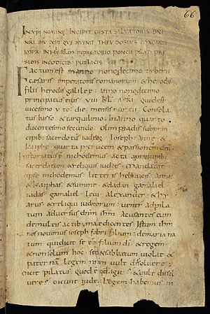 Gospel of Nicodemus - A 9th or 10th century manuscript of the Gospel of Nicodemus.