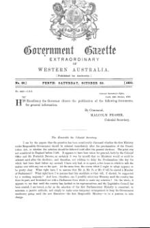 Extraordinary Government Gazette of Western Australia (No.48 of 1890).djvu