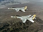 F-14A Tomcats of VF-142 in flight over Arizona on 15 January 1977 (NNAM.1996.253.7449.012).jpg