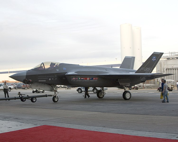File:F-35A - Inauguration Towing.jpg