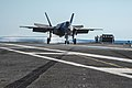 F-35C landing on USS Nimitz (CVN-68) in November 2014 (04).JPG