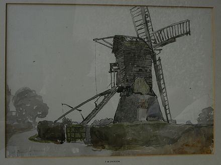 The Windmill at Thorne, by F. W. Jackson, 1911. F.W.Jackson windmill Thorne 1911.jpg