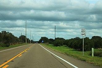 Florida State Road 64 - Image: FL64East Sign Road Orange Groves
