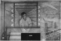 FWA-PBA-Paintings and Sculptures for Public Buildings-painting depicting textile worker in mill at large loom with... - NARA - 197274.tif