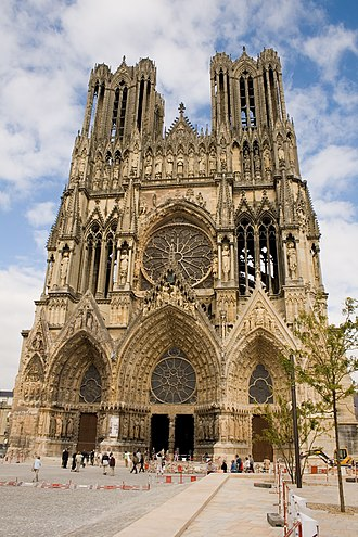 Culture of France - Notre-Dame de Reims is the Roman Catholic cathedral where the kings of France were crowned until 1825.