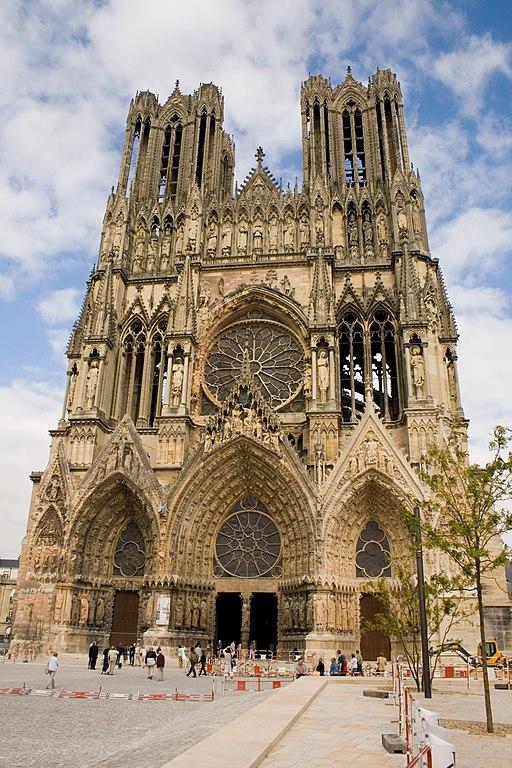 Facade de la Cathédrale de Reims - Parvis
