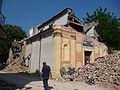 Facciata danni terremoto 29-05-2012, Chiesa di San Giuseppe o Madonna del Mulino - San Felice sul Panaro.JPG