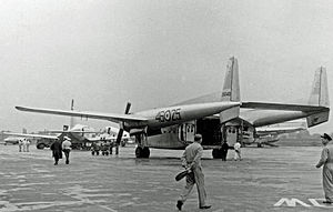 Kindu atrocity - A Fairchild C-119G of the Italian 46ª Aerobrigata
