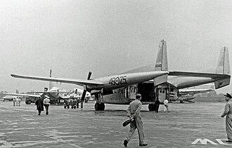 Kindu atrocity - A Fairchild C-119G of the Italian 46ª Aerobrigata