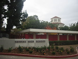 Fairfax High School (Los Angeles) - Image: Fairfax High Dec 2006