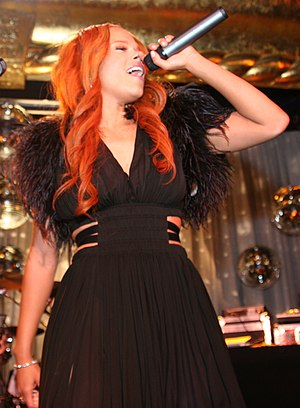 Faith Evans - Evans performing in April 2005