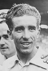 Black and white photograph of Federico Bahamontes.