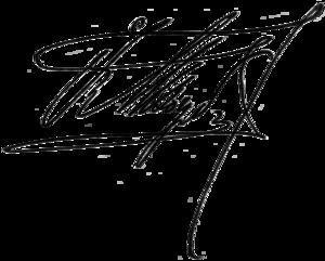 Fedir Lyzohub - Image: Fedir Lyzohub Signature 1908