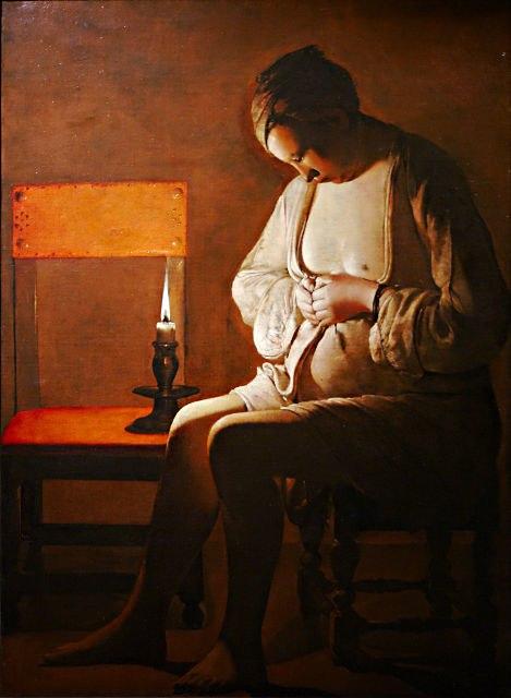 Femme à la puce, Georges de la Tour