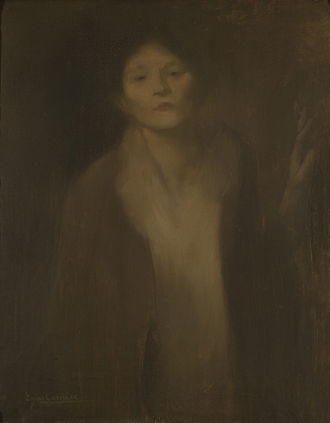 Eugène Carrière - Femme regardant, National Museum of Fine Arts in Buenos Aires