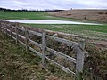 Fence, field and flood - geograph.org.uk - 313266.jpg