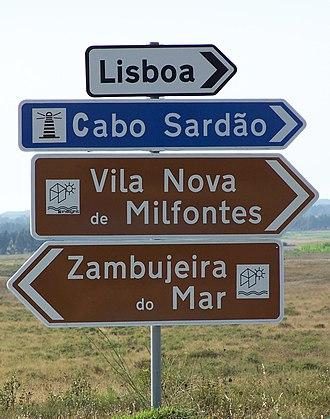 Transport (typeface) - Image: Festival Sudoeste IV, este é o cruzamento com indicações mais perto do Festival