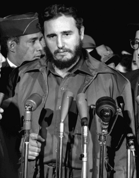 Fidel Castro in 1959.  U.S. Library of Congress