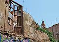 Finestra d'un edifici enderrocat al carrer de Balmes de València.JPG