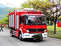 Fire Engine of Fire Bureau, Taitung County Govement Leave Taipin Camp 20120324.jpg