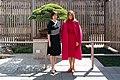 First Lady Melania Trump Welcomes Mrs. Akie Abe to Washington DC (47690083882).jpg