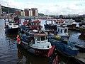 Fishing boats at Swansea dock - geograph.org.uk - 1609084.jpg