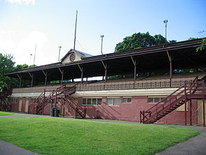 Edinburgh Gardens, Melbourne - The grandstand at the W. T. Peterson Community Oval, built 1888