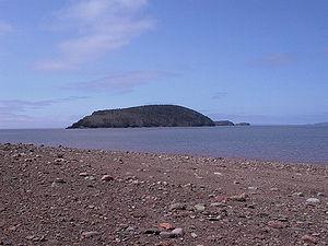 Five Islands, Nova Scotia - Moose Island as seen from Five Islands provincial park
