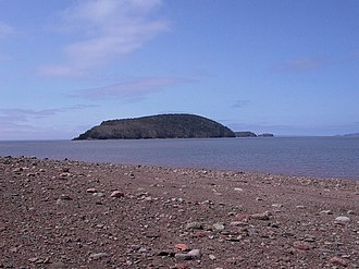 Five Islands, Nova Scotia - Moose Island as seen from Five Islands provincial park