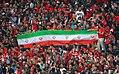 Flag of Iran and Persepolis fans.jpg